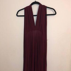 Maxi Maroon Convertible dress